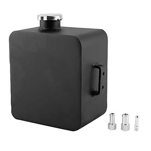 Ölfangbehälter Entlüftungstank Oil Catch Tank Universal Aluminium Oil Catch Can Vorratsbehälter Square Breather Tank Kühlmitteltank 2.5L(Black)