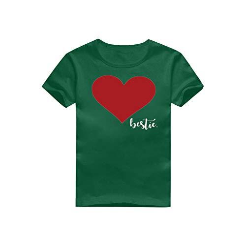 Sommer Lilicat Mutter/Dad Tochter Kleidung, Mom & Daughter Pullover Bluse Love Printed Langarm-Pullover Unterhemd T-Shirt Rundhals Oberteile Mode Lässige Tank Top