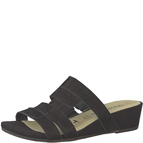 Tamaris 1-1-27206-22 Damen Pantoletten,Pantolette,Hausschuh,Pantoffel,Slipper,Slides,Touch-IT,Black,39 EU