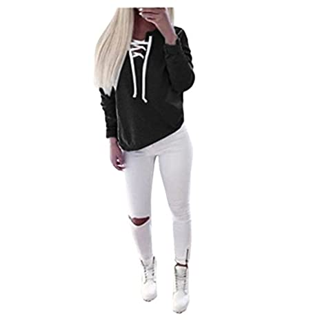 Reaso Femmes Sweat à capuche Casual Pull Manche longue Hoodie Sweatshirt Cactus Impression Hooded Pullover Tops Blouse (S, Black)
