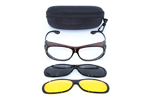 Clever & Chic Accessoires Überbrille - magnetische Überziehbrille 2 in 1 braun