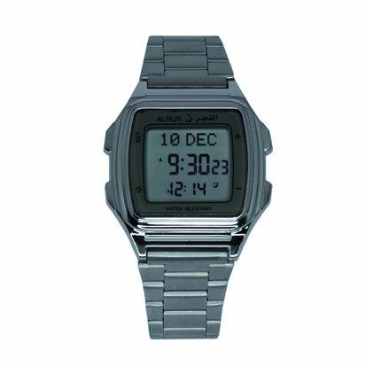 ALFAJR, Islamic Watch & Clock 6281106030403-Armbanduhr, Armband aus Edelstahl Farbe Silber