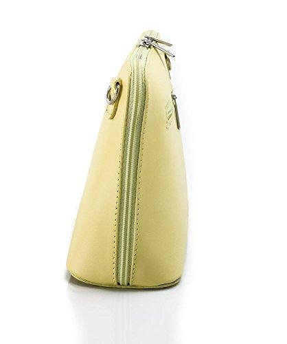 Benagio , Damen Umhängetasche Schwarz Schwarz S Lemon Yellow Yellow