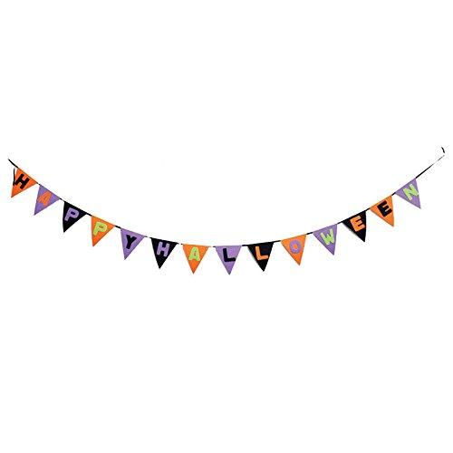 Zantec Multicolor Kreative Happy Halloween Flagge Banner Kürbisse Piraten Buchstaben Fledermaus Party Hof Home Outdoor (Halloween Dekor Hof)
