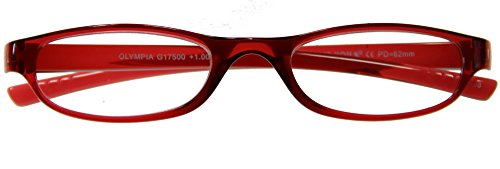 I NEED YOU gafas de lectura Olympia / 1:00 dioptrías / rojo