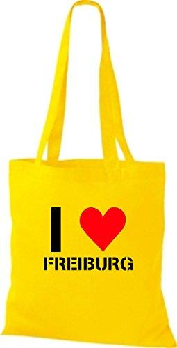 T-shirt Di Stoffa Tinta Unita Amo Freiburg La Tua Città Con Diversi Colori Di Girasole