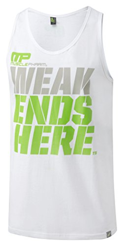 Muscle Pharm, Canotta Uomo, Bianco (White), S - 31I%2BRB%2BDdCL