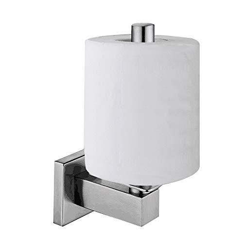 Lolypot Klopapierhalter Toilettenpapierhalter Gebürstet Vertikale Klorollenhalter Wandhalter 304 Edelstahl WC Halter Rollenhalter Toilettenpapierrollenhalter Papierhalter für Küche und Badzimmer