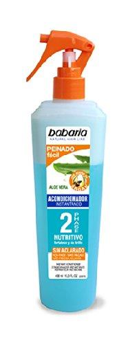 Babaria Après-shampoing à l'aloe vera & Argan 2 phases instantanée 400 ml