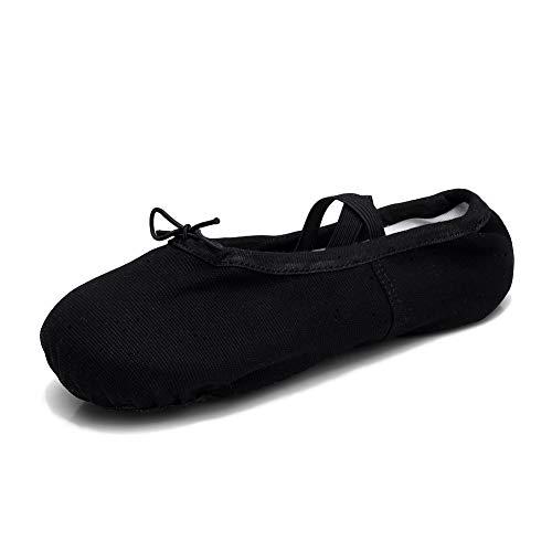 TRIWORIAE - Zapatos de Baile Ballet Zapatillas de Danza/Yoga/Pilates/Gimnasia para Niña Mujer Negro 36 EU