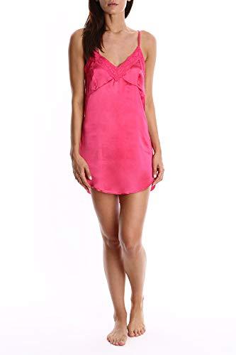 Blis Damen Nachthemd Satin Chemise - Damen Lounge & Nachtwäsche Cami - Pink - X-Groß -
