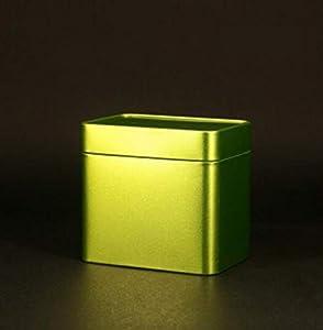 Whyyudan Stockage de thé utile Boîte de fer-blanc de thé de bidon de thé de pot de voyage portatif créatif (vert clair)