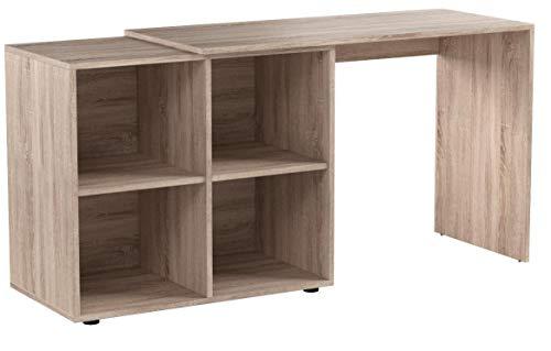 VICCO Regal-Kombination 90°-180° winkelbar weiß Sonoma Eiche - Schreibtisch Eckschreibtisch Regal für Akten, Ordner und Büro PC (Sonoma Eiche)