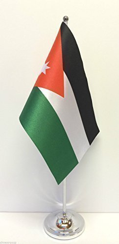 Jordan Flag Satin verchromte Fassugn Tisch Flagge im Set