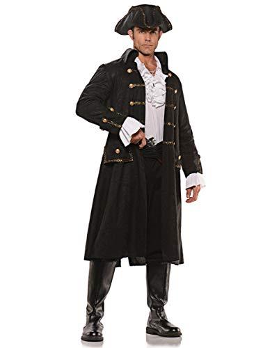 Horror-Shop Piraten Captain Kostüm für Fasching und Halloween One Size