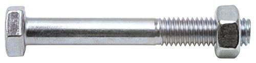 Schössmetall Sechskantschraube mit Schaft und Mutter DIN 601 M10 x 200 mm Stahl verzinkt Güte 4.6 SW17 25 Stück