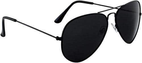 Hipe UV Protected Aviator Men's Sunglasses (Black)