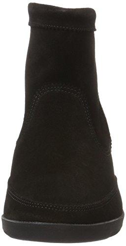 BULLBOXER Damen Low Boots Mokassin Stiefel Schwarz (Black)