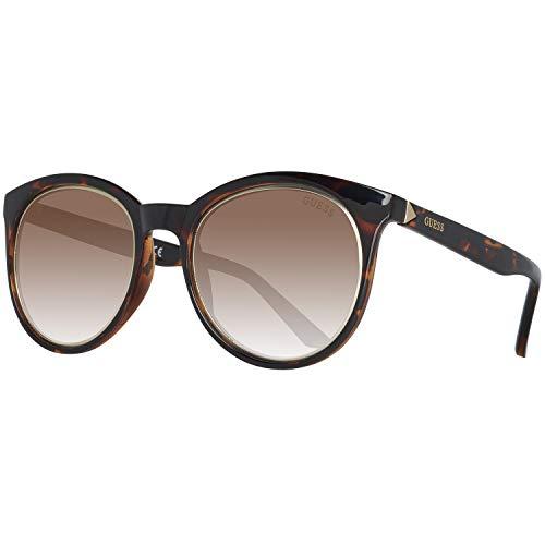 Guess Damen Gu7466 52E 53 Sonnenbrille, Braun,