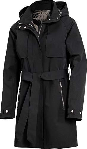 Emilia Parker Damen Trenchcoat in Schwarz, klassischer Kurzmantel, Übergangsjacke, Basic mit...