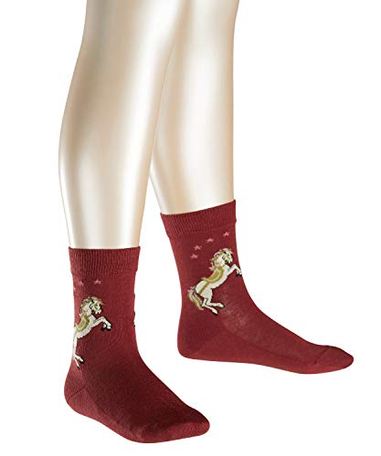FALKE Mädchen Socken Horse, Gr. 35 (Herstellergröße: 35-38), Rot (maroon 8102)