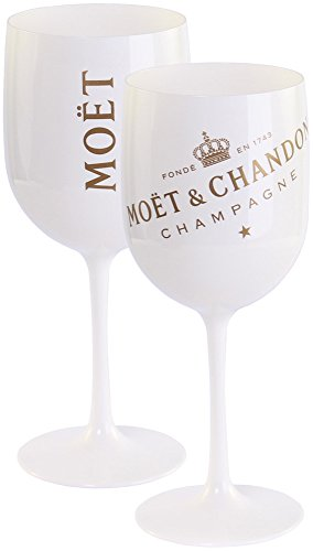 Moet and Chandon Gold Ice Imperial Champagnergl/äser 2 St/ück Kunststoff