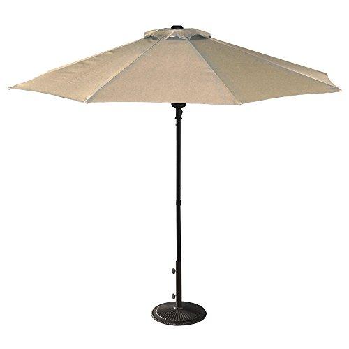Island Umbrella NU5419CH Cabo Market Umbrella, 9-ft, Champagen Olefin -