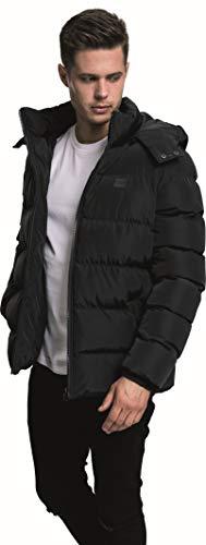 Urban Classics Herren Hooded Puffer Jacket Jacke, Black, M