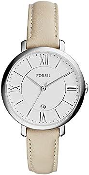 ساعة جاكويلين للنساء من فوسيل - عرض انالوج وسوار من الجلد - ES3793