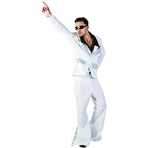 Reír Y Confeti - Ficdis013 - Para adultos traje - traje de la fiebre del disco Luxe - Hombres - Tamaño Xl
