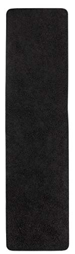 misento 292110 Shaggy Teppich Langflor Läufer, Polypropylen, schwarz, 0.67 x 0.16 x 0.16 cm