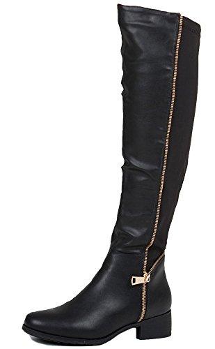 Style L Black Faux Leather Size 6 - Womens Riding Winter Biker...