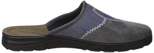 INBLU Bg000022, Pantofole Aperte sulla Caviglia Uomo Grigio