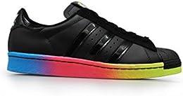 adidas superstar con strisce arcobaleno