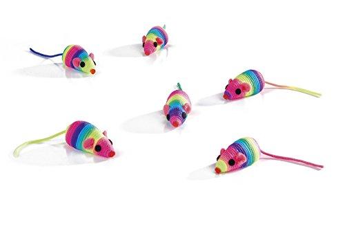 katzeninfo24.de Beeztees 430351 Spielmaus Rainbow, 5 cm