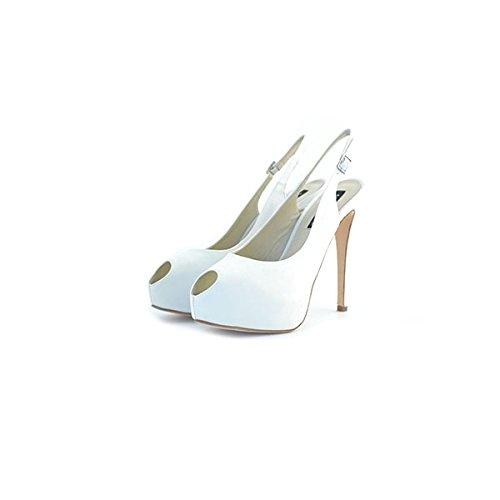 Decolte', sandali da sposa Albano, in raso bianco, taglia: 40