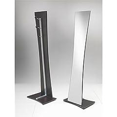 Idea Regalo - Tomasucci VANESSA, Specchio del pavimento con struttura in metallo, Marrone