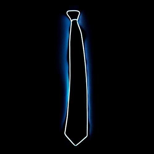 lustiges Spielzeug, ALIKEEY Halloween Light Up Neck LED Krawatte für Männer Neuheit Krawatte für Rave Party Burning (Up Light Krawatten)