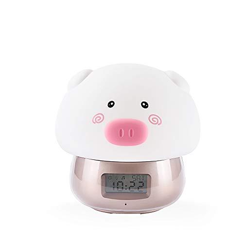 Kdkdnw Reloj Despertador USB Niños Dibujos Animados