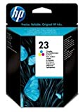 HP C1823D - 23–Jaune, cyan, magenta-Cartouche d'encre d'origine pour Officejet, Deskjet 81 x R45, R40, R60, R65, R80, T45, T65, Officejet Pro 11XX, psc 500