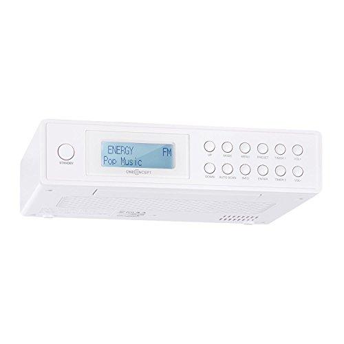 OneConcept KR-120 Küchenradio Unterbau Digitalradio mit DAB Plus / UKW Radio und LCD-Display Weiß