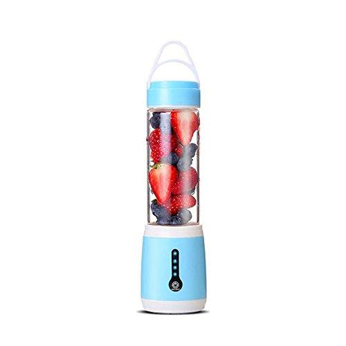 Wiiguda@ Mini Batidora Portátil, Licuadora para fruta, Recargable Juice Blender con USB, Batidora de Vaso Portátil Exprimidor Eléctrico Mini para Naranja /Manzana /Kiwi en Viaje/ Coche / Oficina, Azul