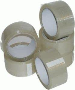 2 ROLLS OF STRONG CLEAR PACKING PARCEL TAPE 48mm x 66M