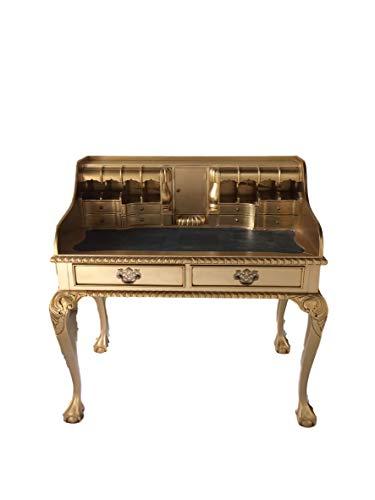 Antike Barock Louis Seize Renaissance Rokoko Sekretär Farbe:Gold Schreibtisch Schminktisch...