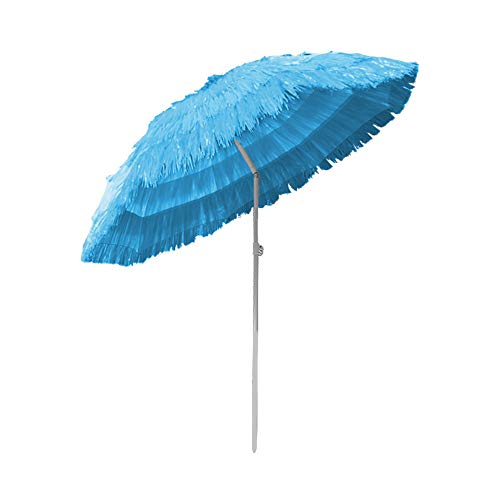Greenbay Parasol Hawaii - Ø 160 cm - Inclinable pour jardin terrasse plage Bleu