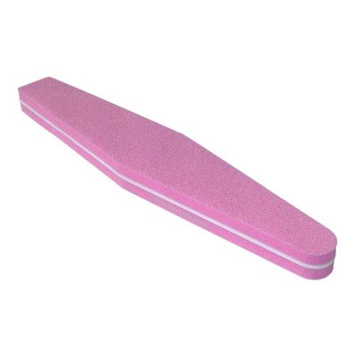 Profi Buffer Feile SUPERFLEX Trapez rosa / pink Körnung 100/180 grob-fein Rosa Trapez