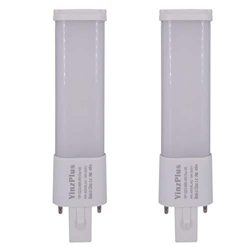 yinzplus 2 pezzi g23 led lampadina 4 watt bianco naturale 4000k 400 lumen ra 90 collegarsi 2 perno lampada pl condotto compatte lampadina g23 tubo luce led per illuminazione dell'interno