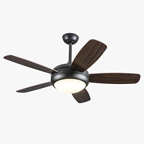 Liuyu · Haushalts-Deckenventilator-Licht-Wohnzimmer-Esszimmer-Ventilator-Leuchter-Holz-Blatt-geführte Fernbedienung Einfache elektrische Ventilator-Lampe-einfaches Entwurfs-stummer Motor-Qualitätssicherung ( Farbe : Wall Control-Weißes Licht )