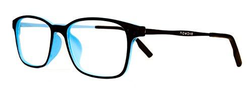 Foto NOWAVE Occhiali neutri per PC, Tablet, TV e Gaming. Eliminano stanchezza e irritazione visiva. Montatura super leggera. Occhiali riposanti ANTI LUCE BLU 40% e UV 100%. Collezione 2018 | Olistic