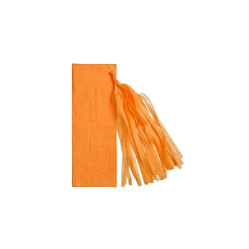 Archiba 5pcs 14inch 35cm Seidenpapier Quaste Garland DIY Papierblume Hochzeit New Year Party Geburtstag Craft-Babyparty-Dekoration, orange (Offenbaren Geschlecht Halloween)